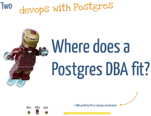 devops with Postgres