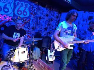 Gabriele in a blues jam at Route 66 near Pisa