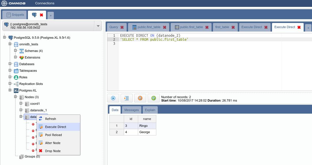 Postgres-XL with OmniDB - 2ndQuadrant | PostgreSQL