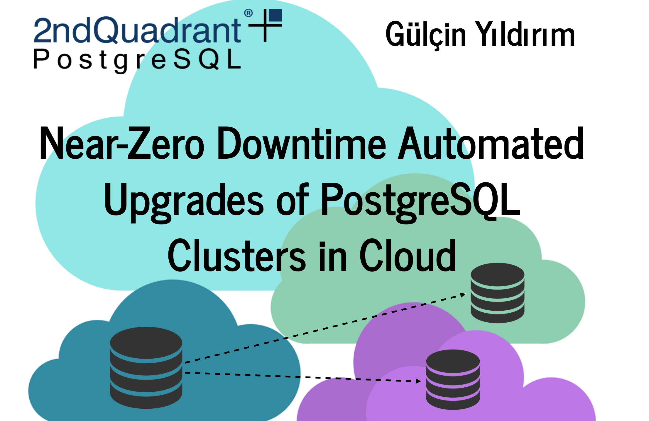 Near-Zero Downtime Automated Upgrades of PostgreSQL Clusters in Cloud