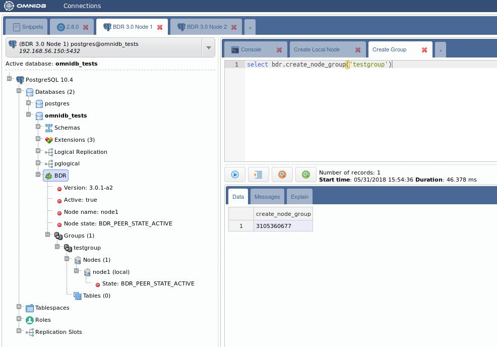 Postgres-BDR 3 0 with OmniDB - 2ndQuadrant   PostgreSQL