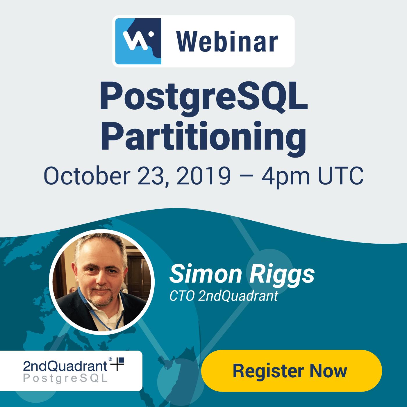 Webinar: PostgreSQL Partitioning