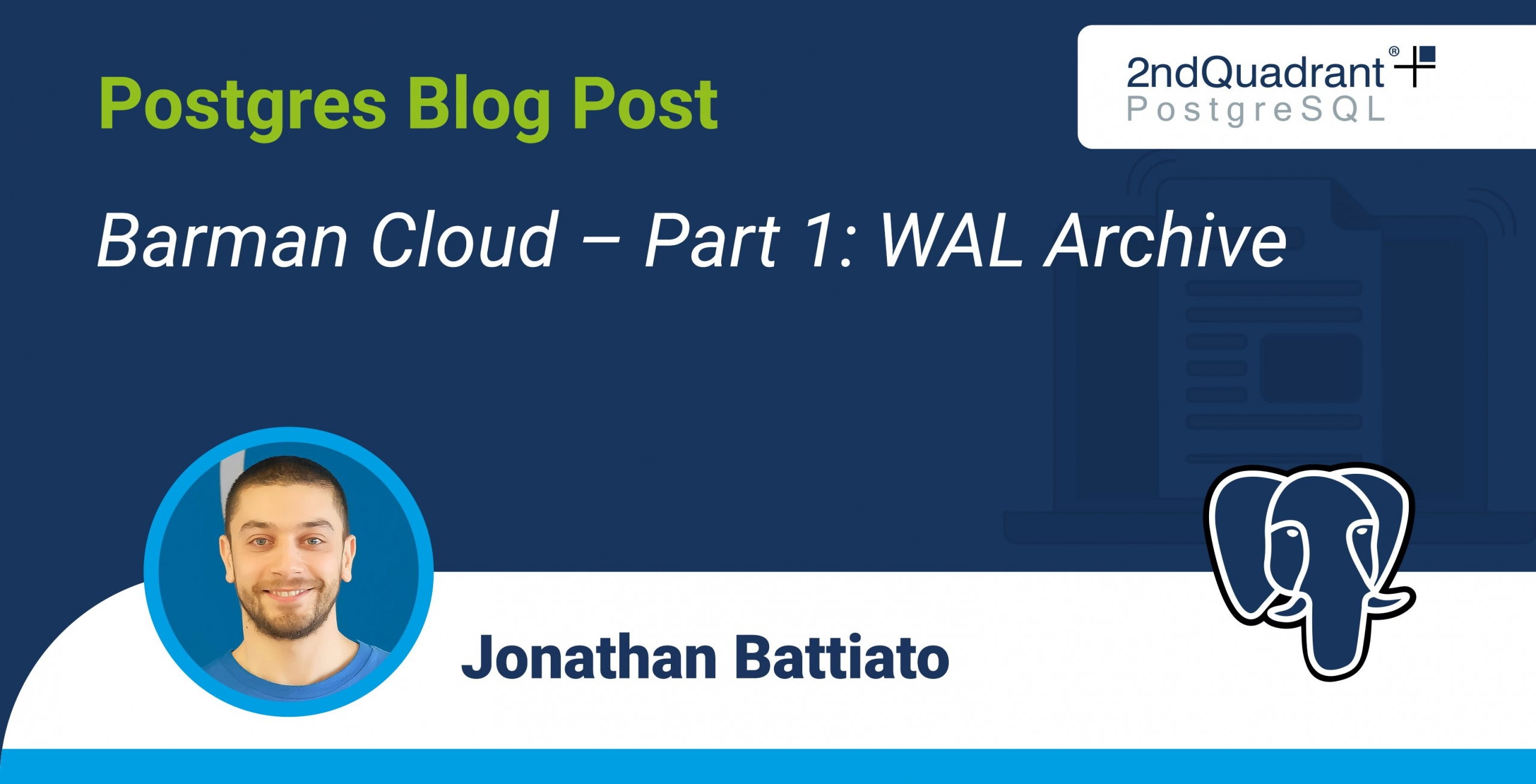 Barman Cloud – Part 1 - WAL Archive