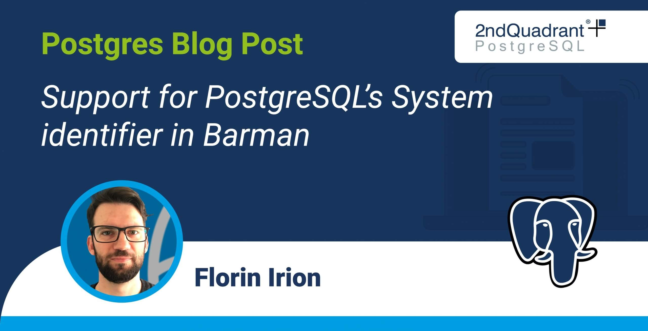 Support for PostgreSQL's System identifier in Barman