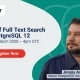 Full Text Search Feature in PostgreSQL