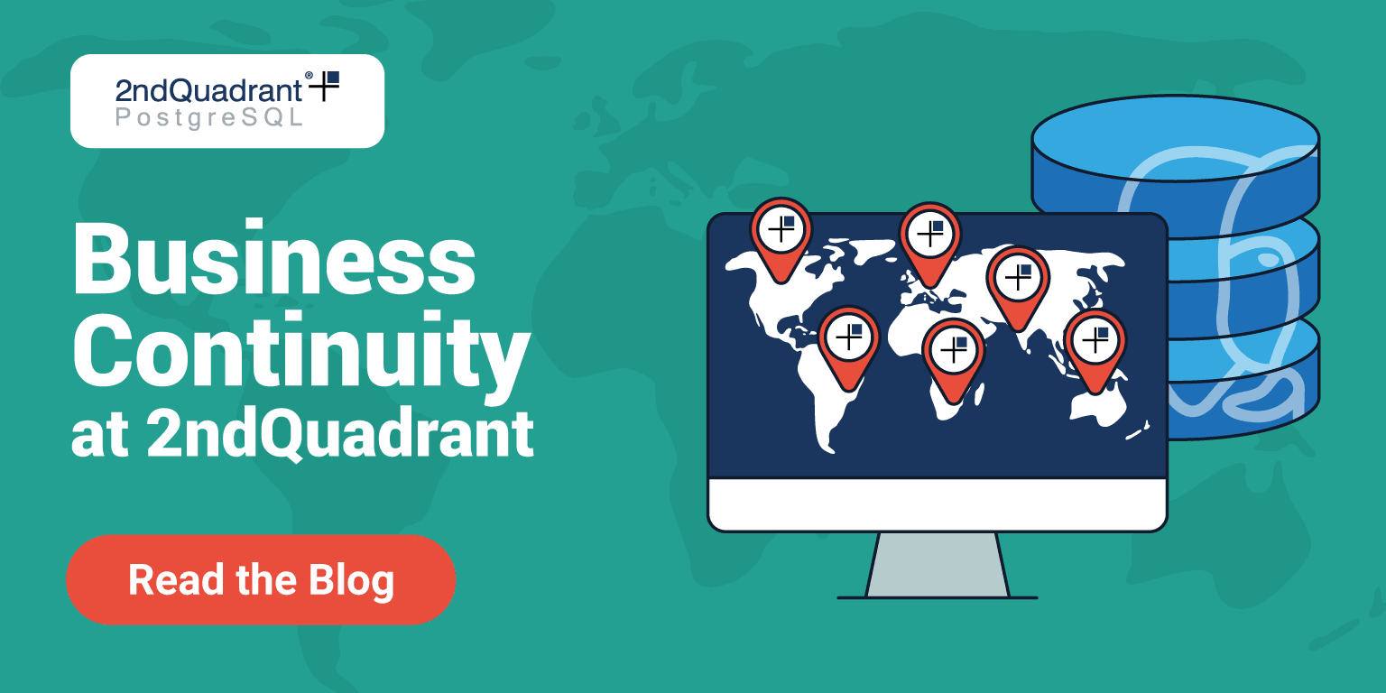 Business Continuity at 2ndQuadrant