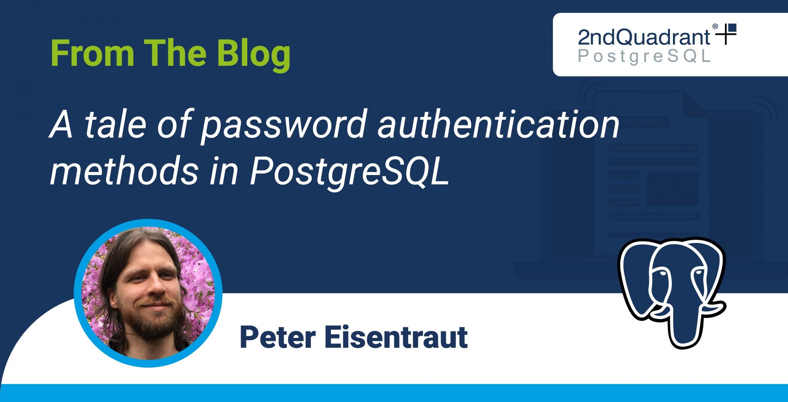 A tale of password authentication methods in PostgreSQL
