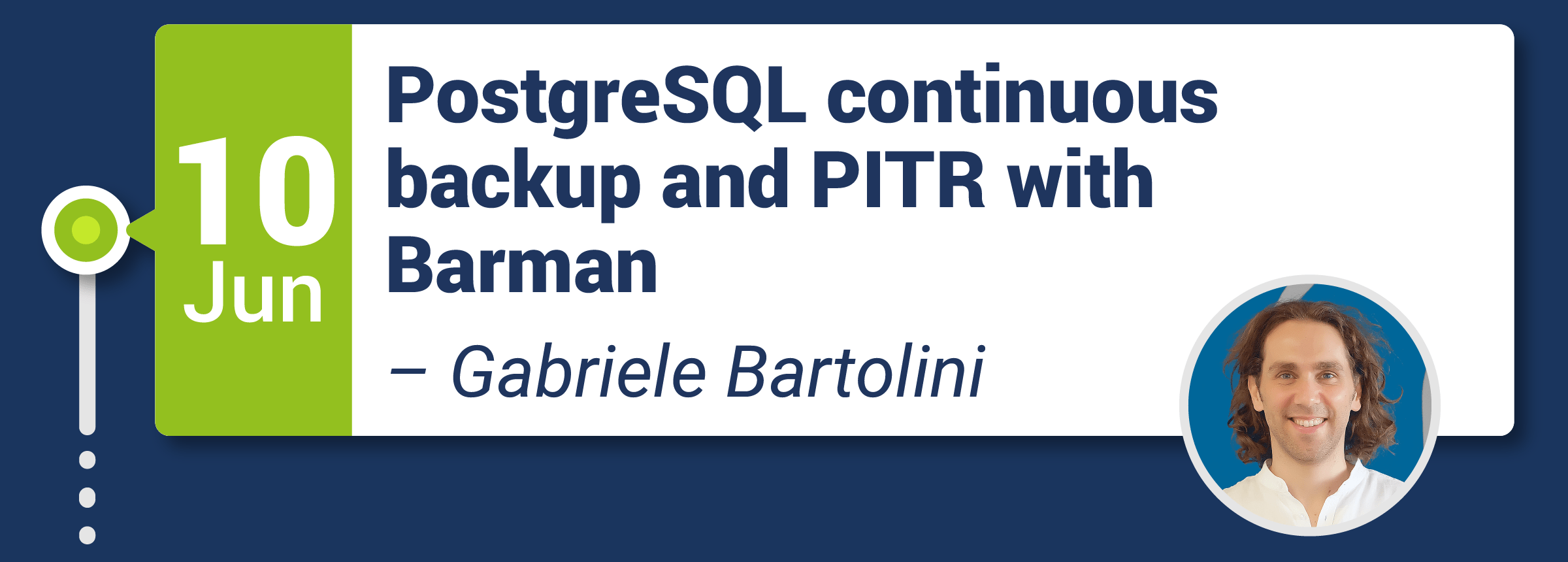 PostgreSQL continuous backup and PITR with Barman
