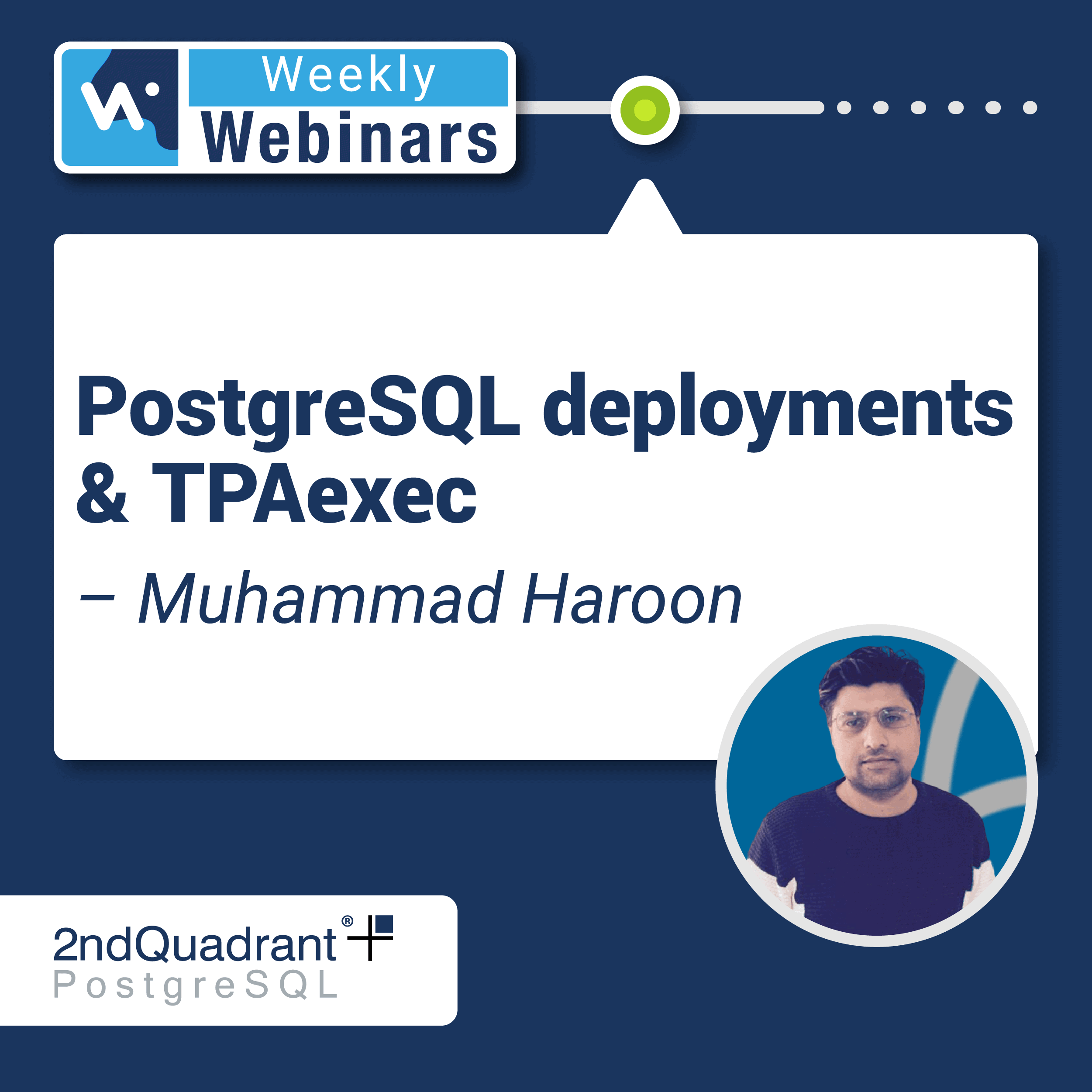 PostgreSQL deployments & TPAexec